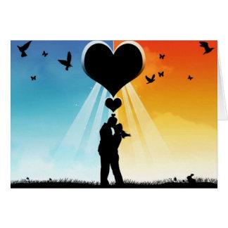 Enamorado bajo un corazón - felicitacion