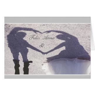 Enamorado, comprometido, casáis tarjeta