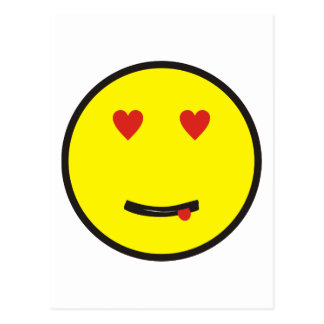 enamorado en love smilie postales