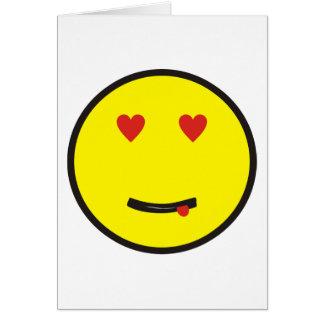 enamorado en love smilie tarjeton