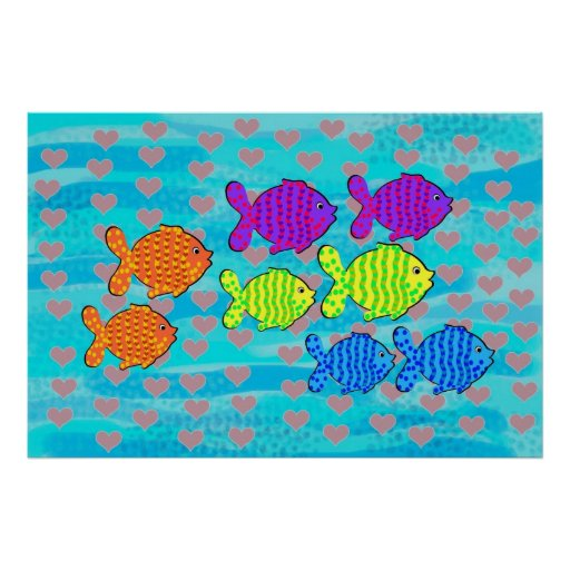 Enamoró peces impresiones