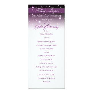 Encantado igualando programa del boda de la noche invitación 10,1 x 23,5 cm