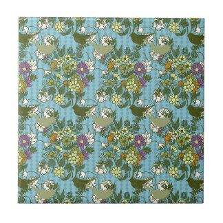 Encanto 8 del jardín: azules turquesas de la azulejo cuadrado pequeño