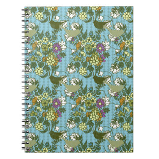 Encanto 8 del jardín: azules turquesas de la cuaderno