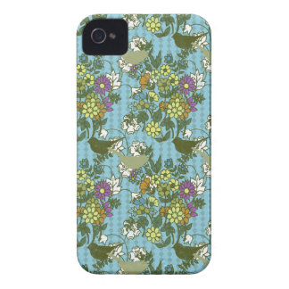 Encanto 8 del jardín: azules turquesas de la iPhone 4 carcasas