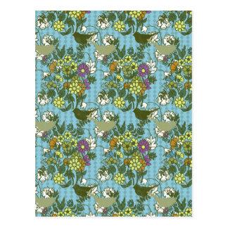 Encanto 8 del jardín: azules turquesas de la postal