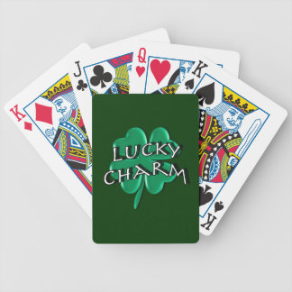 Encanto afortunado - trébol de cuatro hojas baraja de cartas