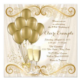 Encanto de marfil de Champán de la fiesta de Invitación 13,3 Cm X 13,3cm
