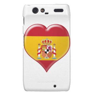Encanto del Corazón de España Droid RAZR Fundas