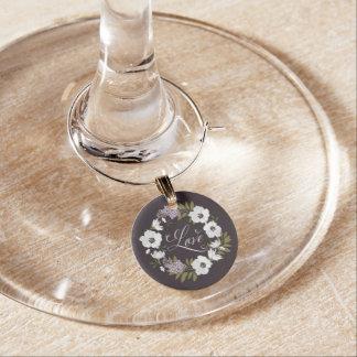 Encanto del vino del boda del AMOR de la guirnalda Identificadores De Copas