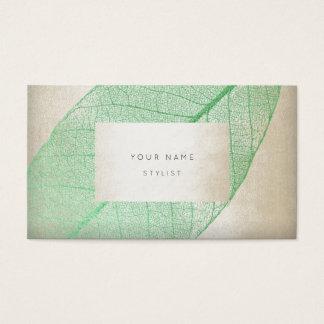 Encanto delicado en colores pastel de marfil de la tarjeta de visita