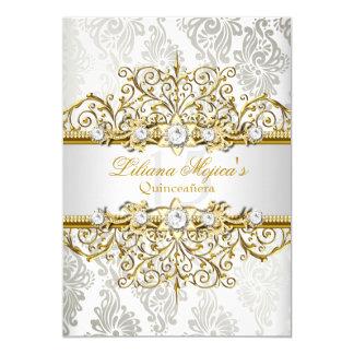 Encanto elegante Quinceanera del vintage de la Invitación 12,7 X 17,8 Cm