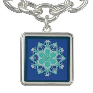 Encanto floral del diseño geométrico del hielo pulseras