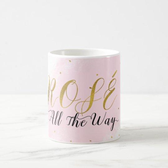 Encanto moderno del rosa de Rosé hasta el final y Taza De Café