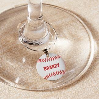 Encanto personalizado béisbol del vino identificador de copa