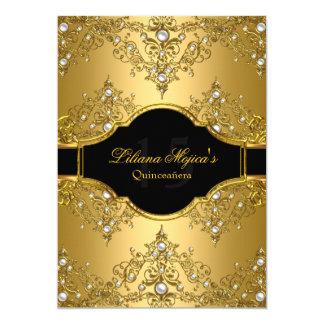 Encanto Quinceanera del vintage de la perla del Invitación 12,7 X 17,8 Cm