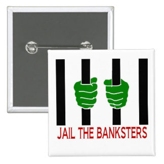 Encarcele el Banksters Chapa Cuadrada 5 Cm