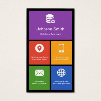 Encargado de base de datos - tejas coloridas tarjeta de negocios