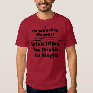 encargado de la construcción camisetas