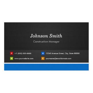 Encargado de la construcción - personalizable tarjetas de visita