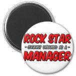 Encargado de la estrella del rock… imán para frigorifico