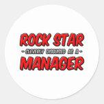 Encargado de la estrella del rock… pegatina redonda