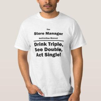 encargado de tienda camiseta