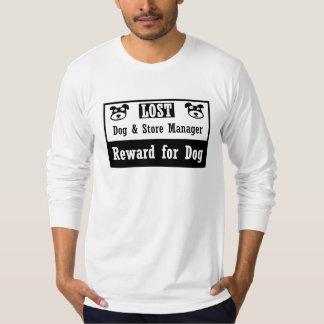 Encargado de tienda perdido del perro camiseta