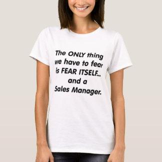 encargado de ventas del miedo camiseta