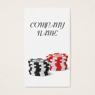 Encargado del casino - microprocesador del símbolo tarjeta de visita