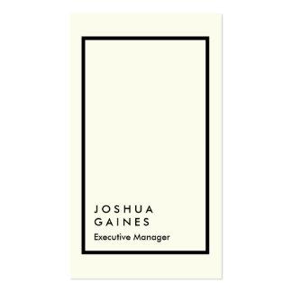 Encargado elegante del llano de marfil elegante tarjetas de visita