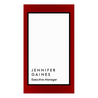 Encargado llano negro blanco de la frontera roja tarjetas de visita