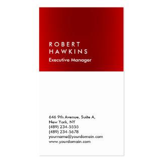 Encargado llano profesional blanco rojo elegante tarjetas de visita