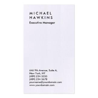 Encargado llano profesional de lino elegante tarjetas de visita