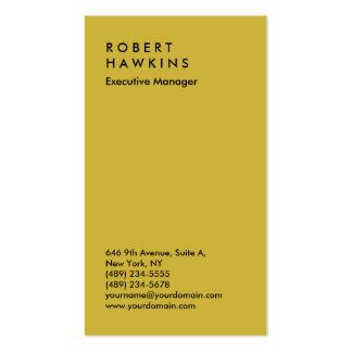 Encargado llano profesional del color oro elegante tarjetas de visita