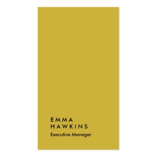 Encargado llano profesional del color oro vertical tarjetas de visita