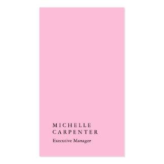 Encargado llano rosado impresionante elegante tarjetas de visita