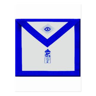 Encargado menor masónico Apron Postal