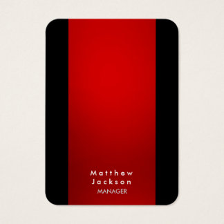 Encargado profesional llano moderno negro rojo tarjeta de negocios