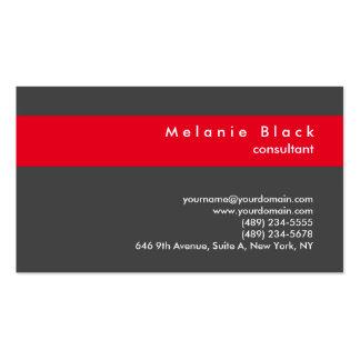 Encargado rojo gris profesional moderno del tarjetas de visita
