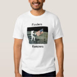 Encargados americanos de los buscadores de la luna camiseta
