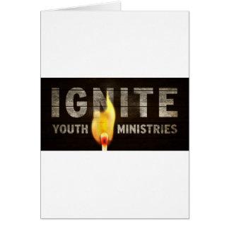 Encienda los ministerios de la juventud tarjeta de felicitación