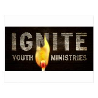 Encienda los ministerios de la juventud tarjetas postales