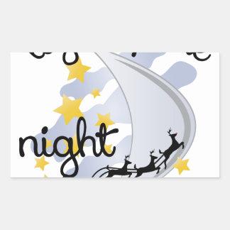 Encienda para arriba la noche pegatina rectangular