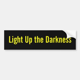 Encienda para arriba la oscuridad pegatina de parachoque