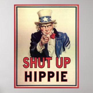 Enciierre al Hippie Póster