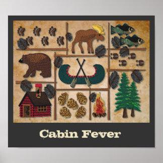 Encima de la fiebre del norte de la cabina póster