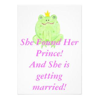Encontrado su príncipe Bridal Shower Invite Custom Comunicado Personal