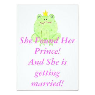 Encontrado su príncipe Bridal Shower Invite Invitación 12,7 X 17,8 Cm