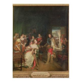 Encontrando entre Louis II de Borbón Tarjeta Postal